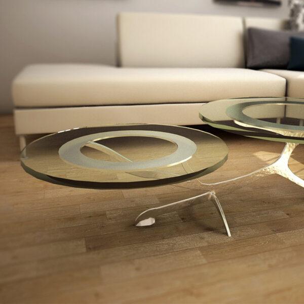 domo mobiliario artesanal mesa cristal artalia