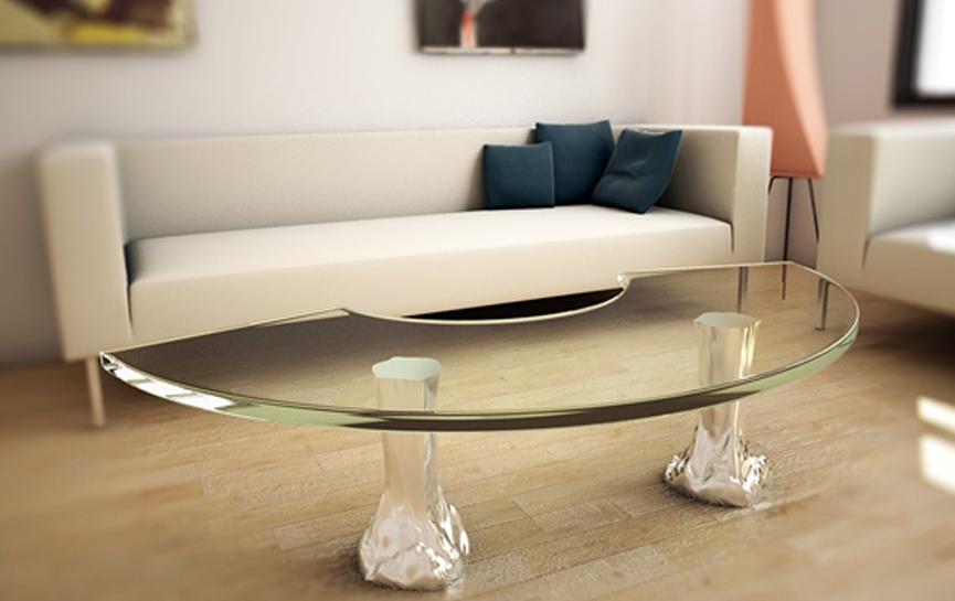Mesas de centro de aluminio para el salón